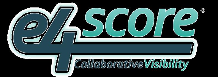 e4score logo with Collaborative Visibility tagline (5.7.2020)